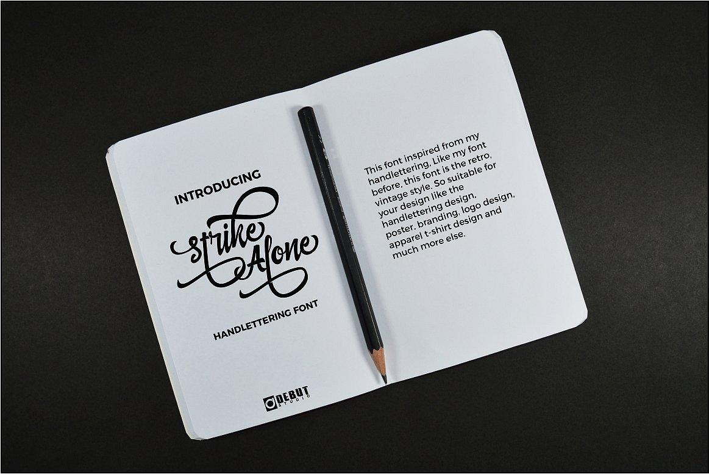 strike-alone-script-font-1