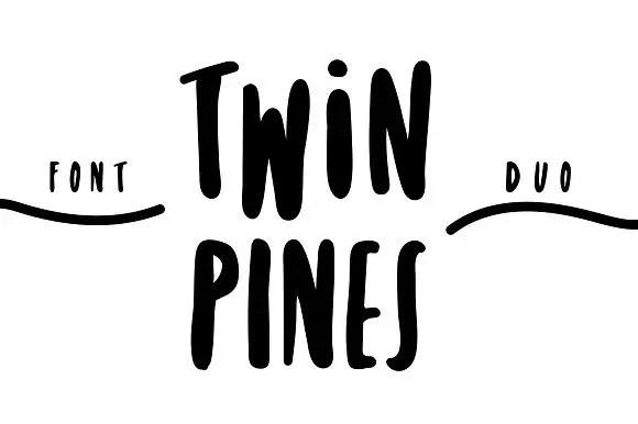twin-pines-font-duo