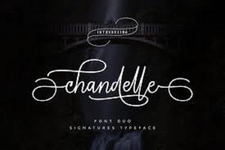 Chandelle Signature Font 4