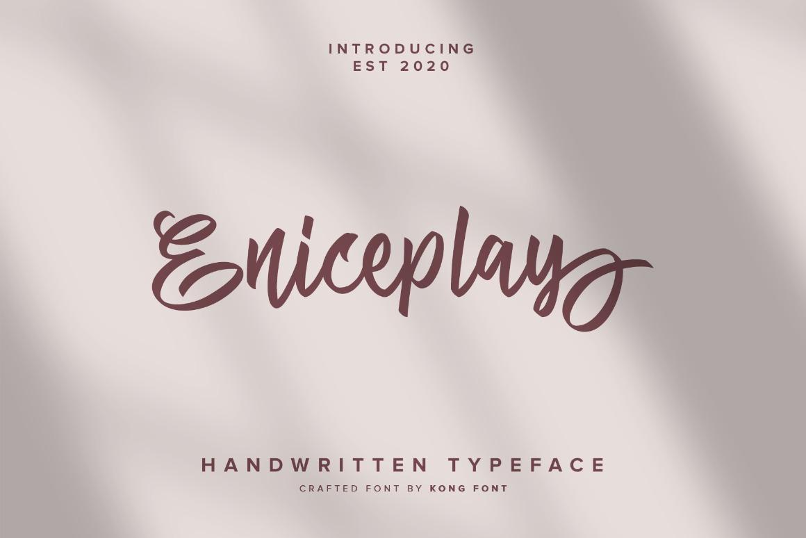 Eniceplay-Fontpreview-1wwwfontkongcom_