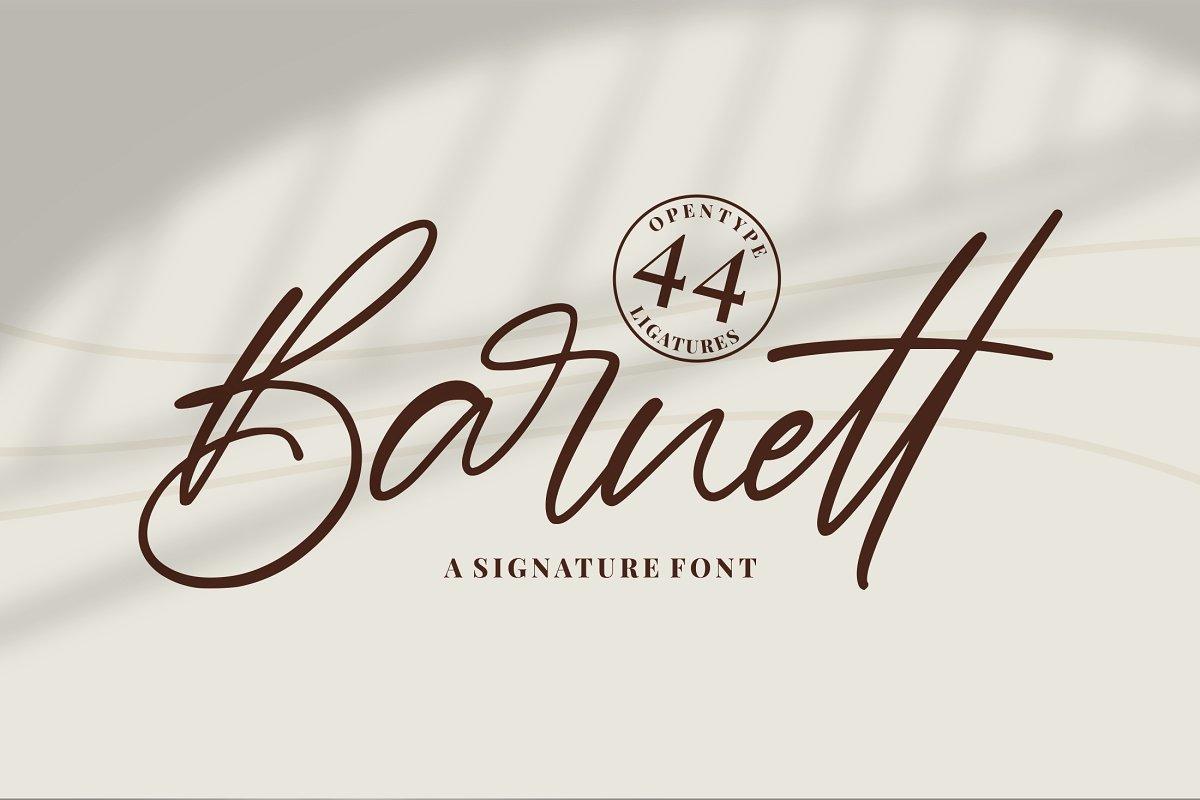 Barnett Signature Font01