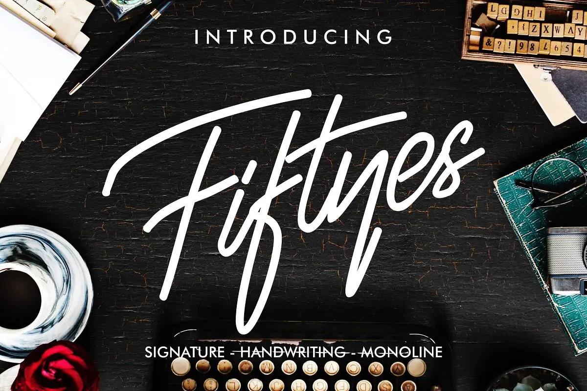 fiftyes-signature-font