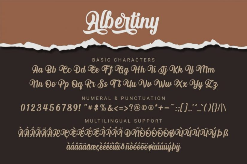 Albertiny Calligraphy Font