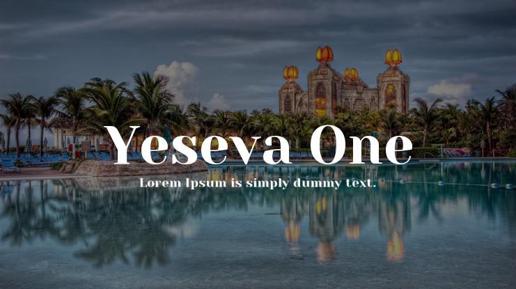 Yeseva One font02