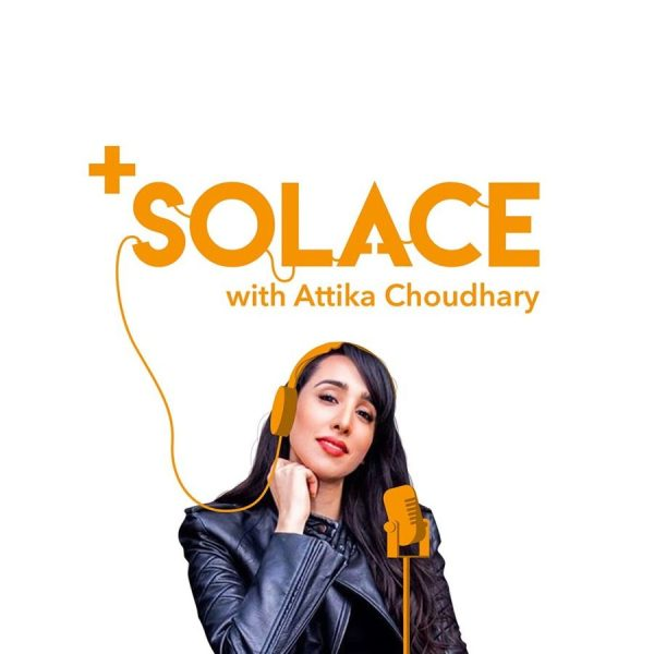 Positive Solace logo with image of presenter