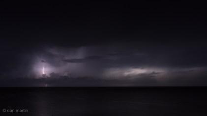 Storm looking north towards the coast of Turkey from the Akamas peninsula, Cyprus.