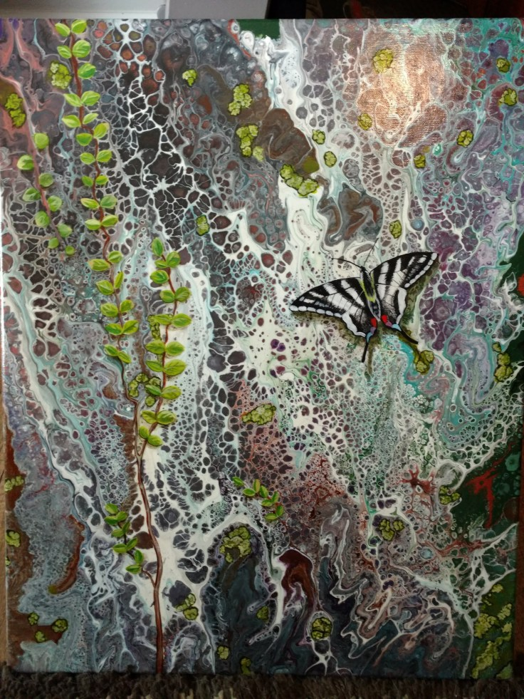 Granite Wall with Butterfly $375