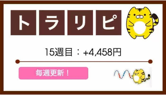 traprepertresult - 【トラリピ】15週目:運用実績は+4,458円の不労所得…!