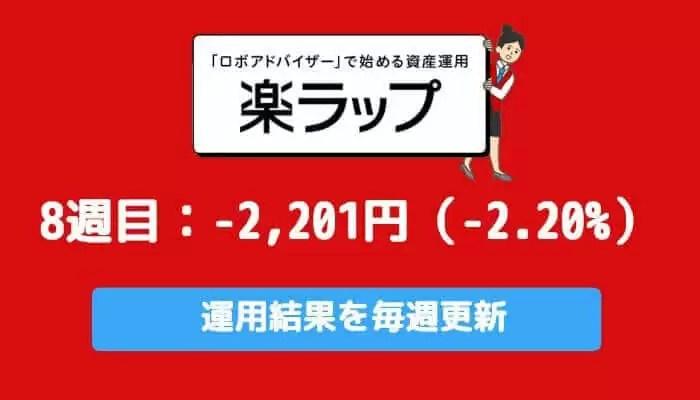 rakuwrap_result - 楽ラップの運用成績を毎週更新!9週目は-2,201円(-2.20%)