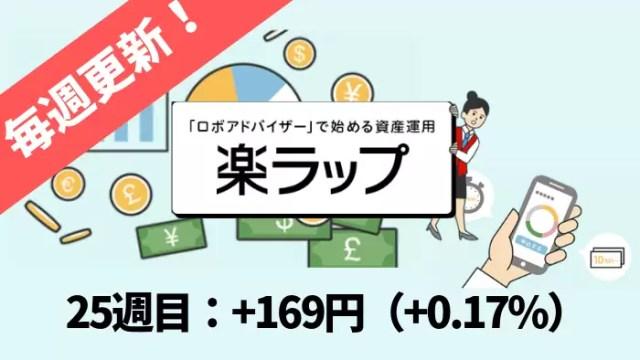 rakuwrap_result - 楽ラップの運用成績を毎週更新!25週目は+169円(+0.17%)