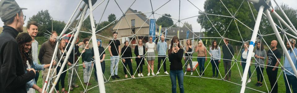 Aufnahme des 360° Fotos von der Gruppe