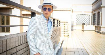 西裝 Imagesuit 訂製一套條紋雙排釦白西裝
