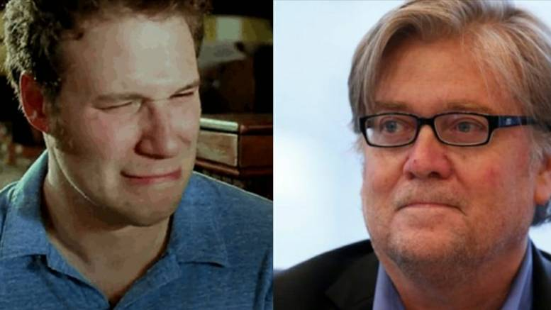 (Feature Photo by screen capture and Dagger News- Seth Rogan and Steve Bannon - SiriusXM cancellation)