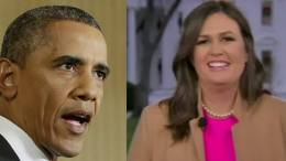 (Feature photo by screen capture Dagger News, Obama and Sarah Sanders Huckabee, Watter's World )