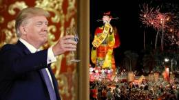 Feature Photo: thehive.asia/ABC news/Dagger News Compilation. President Trump honored with Year of the Dog 2018. Chinese New Year!