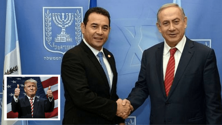 Photo Credit: Facebook/Dagger News Compilation. Guatemala President Jimmy Morales supports Israel and President Bibi Netanyahu along with President Trump and the United States of America.