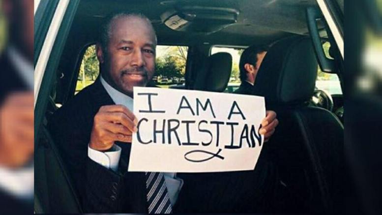 Dr. Ben Carson defends God in the White House bible study groups against Atheists. Photo credit to Dr. Carson's FB public profile page.
