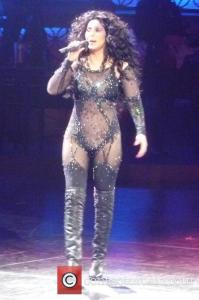 Cher performs live. Photo credit to contactmusic.com.