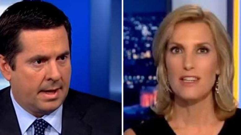 Laura Ingraham interviews Devin Nunes in an explosive revelation about former Secretary of State, John Kerry. Photo credit to screen captures by Dagger News.