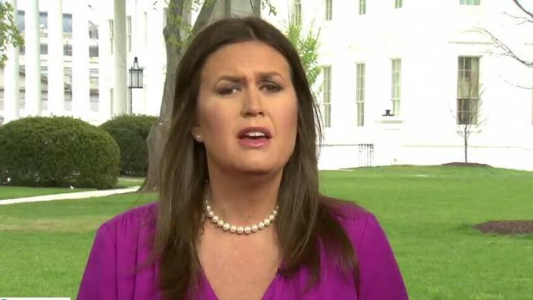 "Sarah Sanders Huckabee on ABC's ""This Week"". Twitter explodes with negative comments attacking Sarah. Photo credit to screen capture by Dagger News."