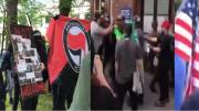 Antifa protests in Philadelphia. Image credit to US4Trump screen capture enhancement.