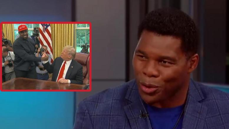 Herschel Walker doubles down on his support for President Trump. Photo credit to Dagger News compilation with screen shots.