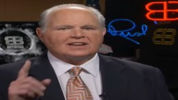 Rush Limbaugh talks midterms with Sean Hannity! Photo credit to Dagger News video screen shot.