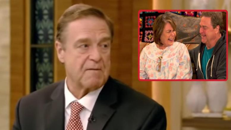 Goodman talks Roseanne. Photo credit to Dagger News compilation with screen shots from ABC.