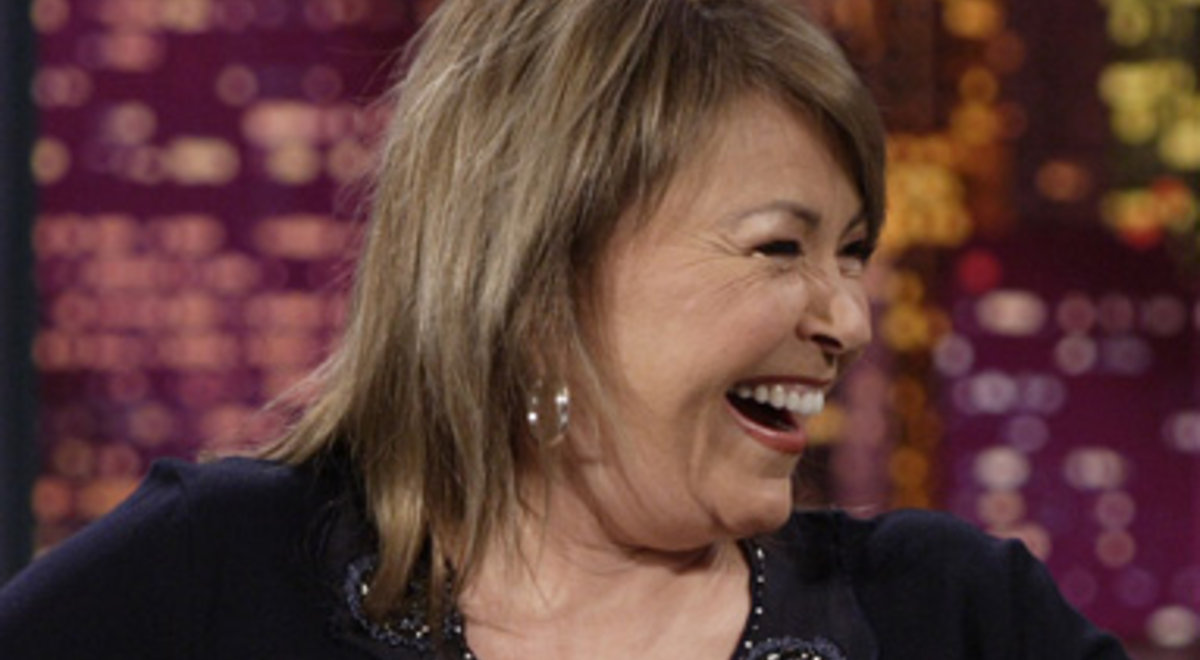Roseanne laughing! Photo credit to google search with bravotv.com.