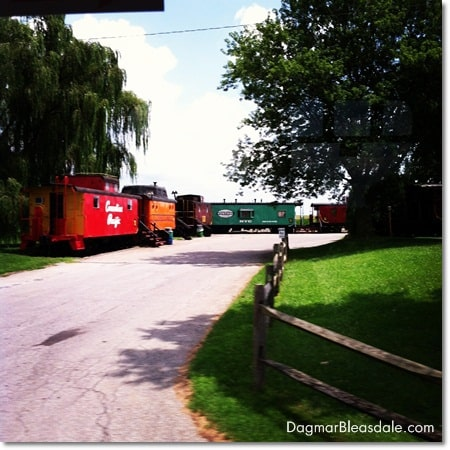 train hotel in Amish Country, Pennsylvania
