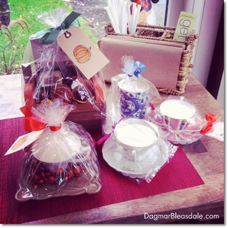 Dagmar's Home Decor handmade soy candles and gift baskets