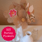 DIY burlap flowers, Mother's Day gift