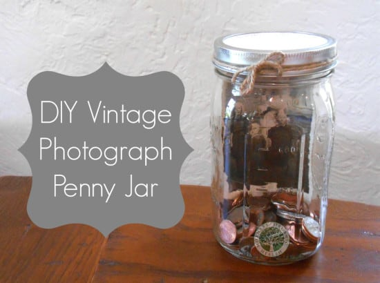 DIY Vintage Photo Penny Jar