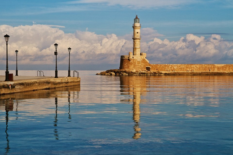 Chanian-lighthouse-Autumn 2 plus 2 Greek destinations for year round holidays