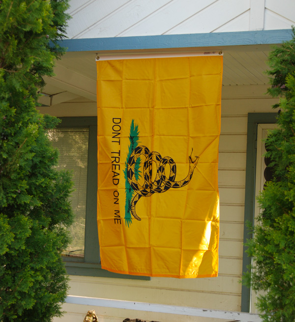 Gadsden Flag on My Front Porch