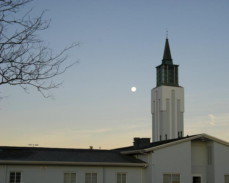 Full Moon Setting over Mormon Church 2