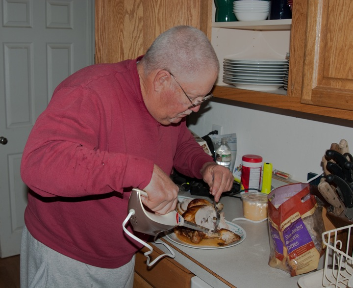 Gary Carving Thanksgiving Meal