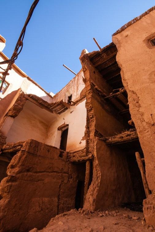 Vue des habitations, au coeur du village.