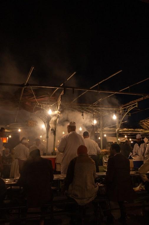 Détail des échoppes, place Jemaa El Fna.