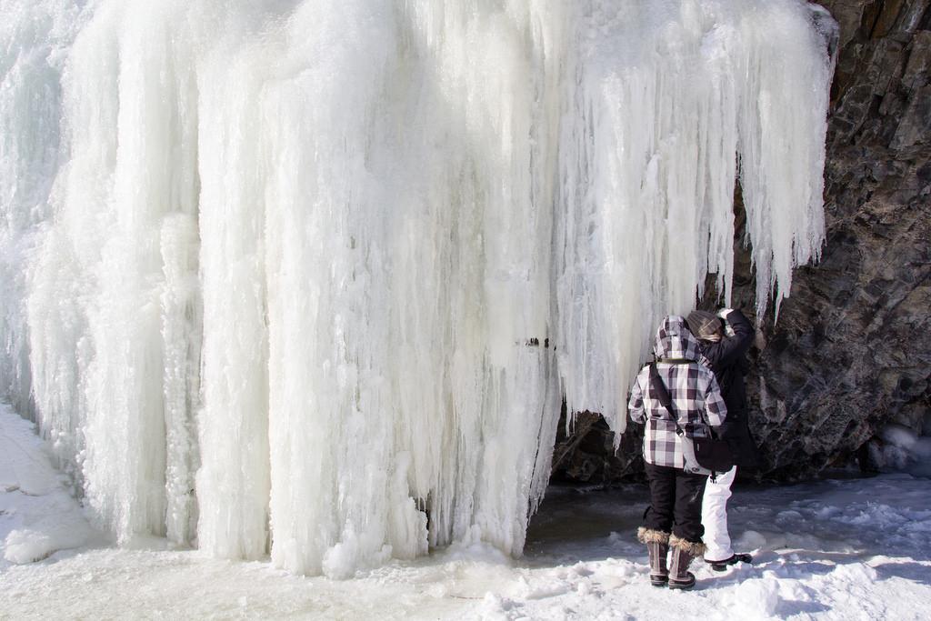 Chute gelée, mise à l'échelle.