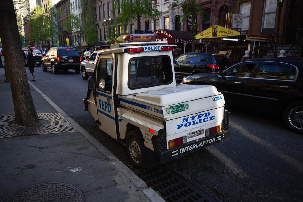 Véhicule de police new-yorkais.