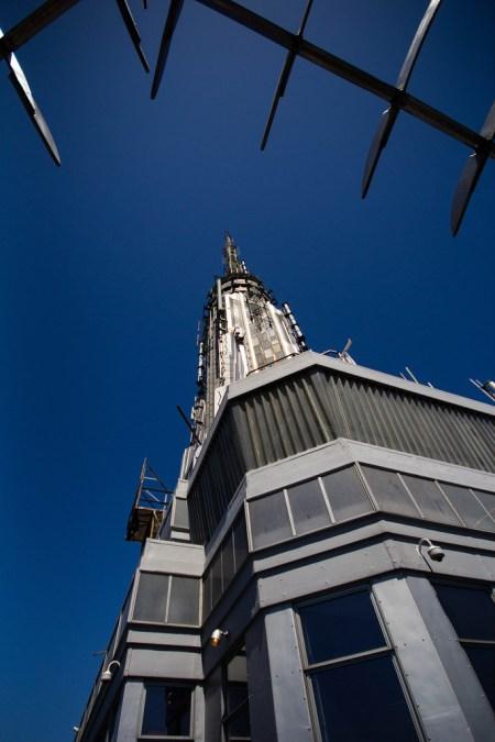 Vue en hauteur de l'Empire State Building.