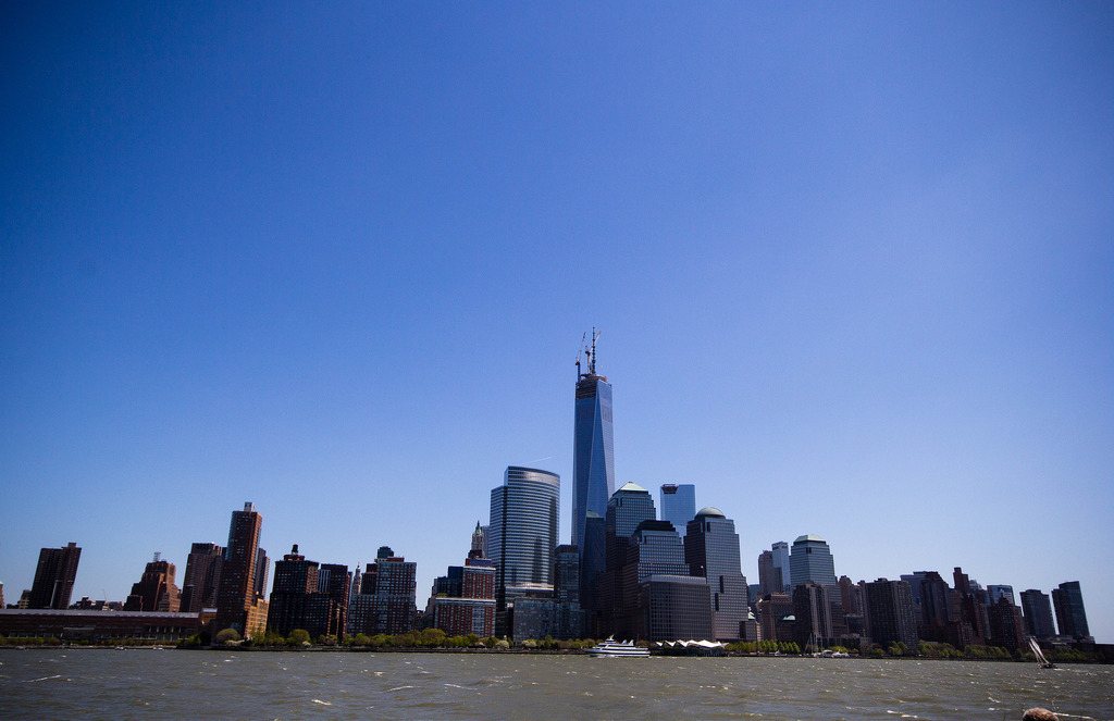 New-York, vue du ferry.