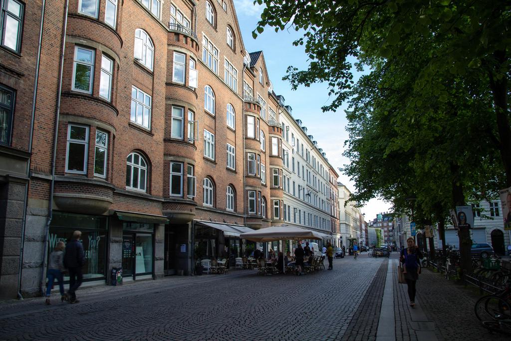 Terrasse dans les rues de Copenhague.