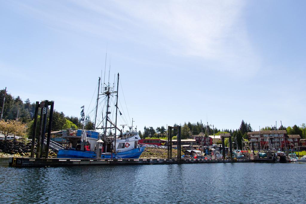 Bateaux au port de Ucluelet.