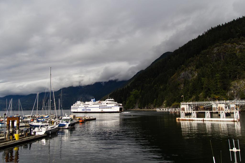 Ferry au départ vers Vancouver Island.