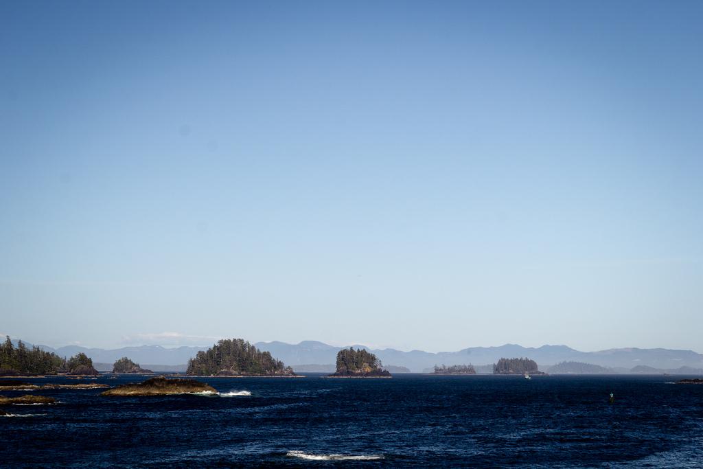 La côte découpée de l'ile de Vancouver.