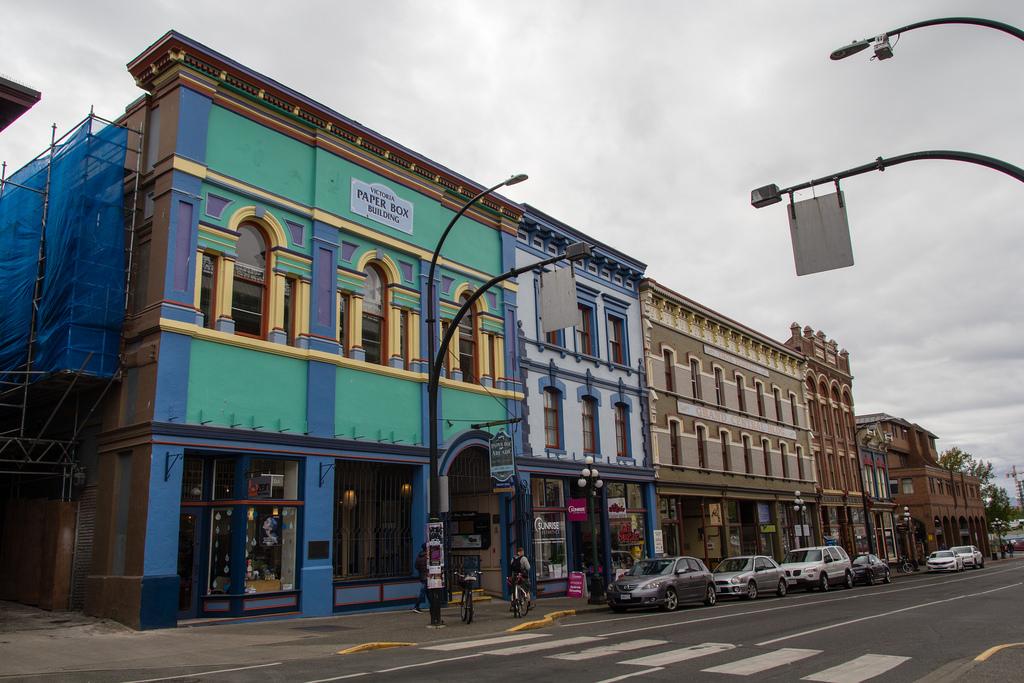 Les bâtiments colorées de Victoria.