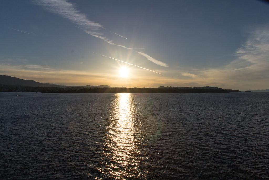 Coucher de soleil vu du ferry.