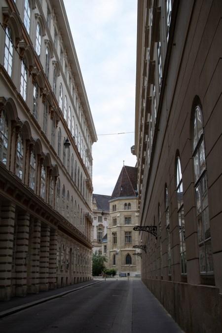 Dans les ruelles de Vienne.